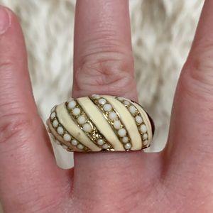 Vintage Chunky Enamel Ring